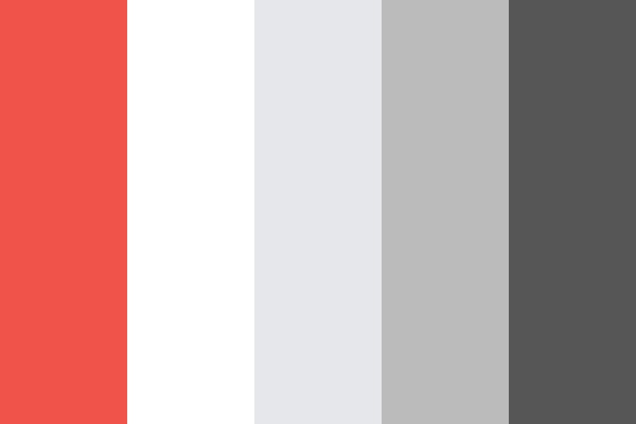 Shades Of Grey W Red Accent Color Palette