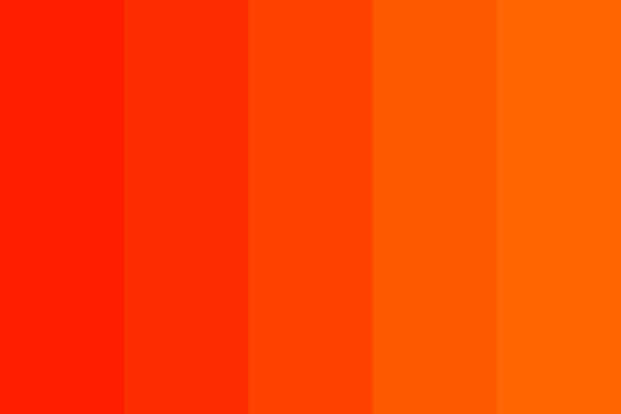 Shades Of Orange And Red Color Palette