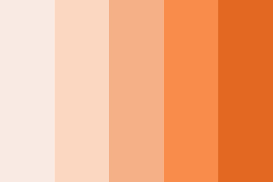 Shades Of Orange Shawl Color Palette