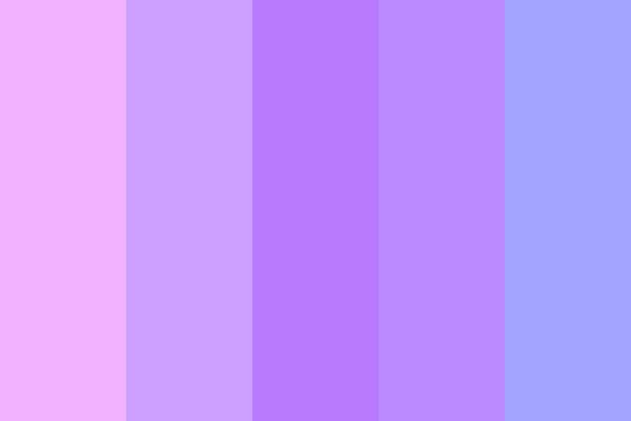 Shades Of Purple Soft Color Palette