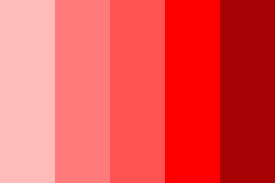 Shades Of Red Color Palette