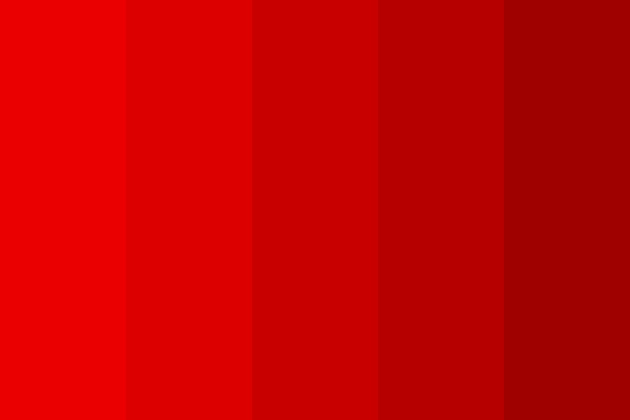 Shades Of Redd Color Palette
