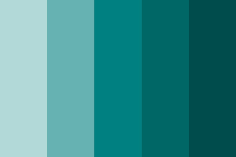 Shades Of Teal Color Palette