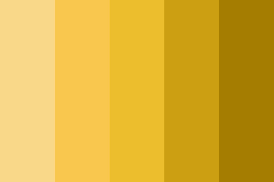 Shades Of Yellow orange Color Palette