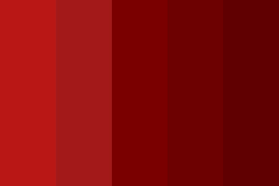 Sheffield Red Color Palette