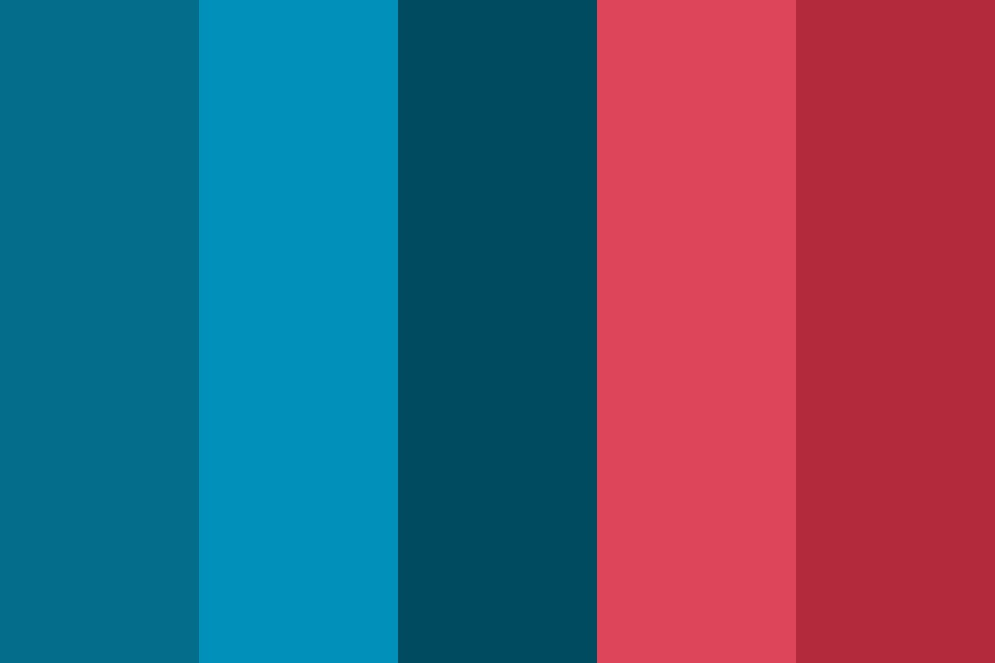 Shitty Red And Blues Color Palette