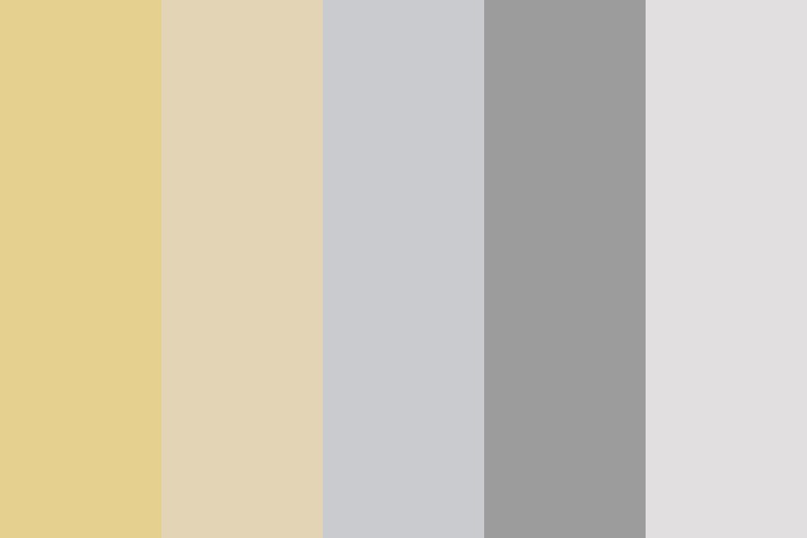 Silver And Gold Christmas Color Palette