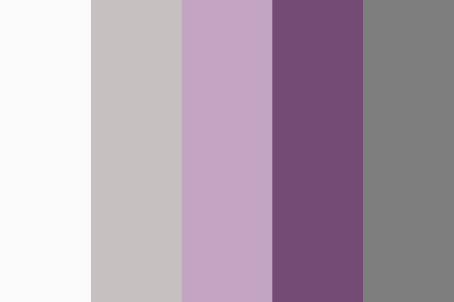 Silver Plum Wedding Color Palette