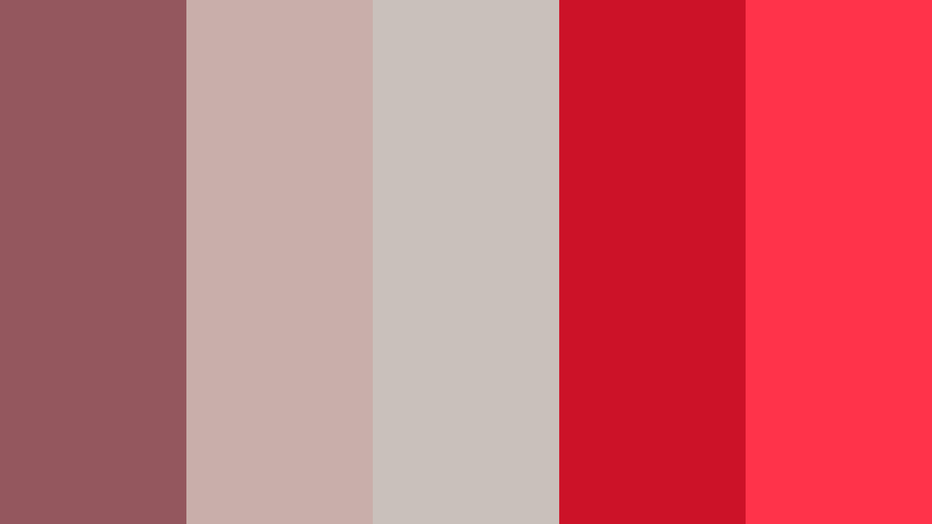 Silver Red Color Palette