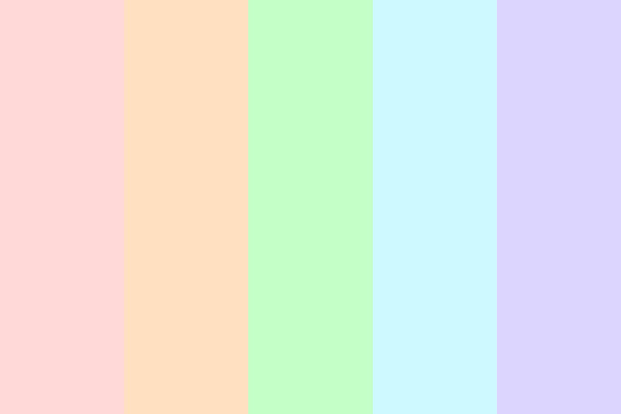 Simple Pastel Rainbow Color Palette