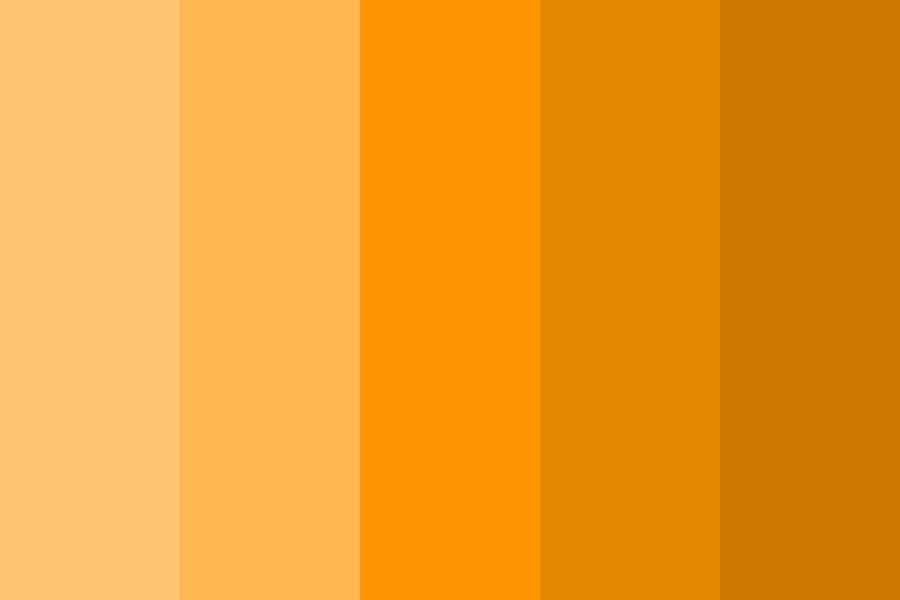 Simple Shades Of Orange Color Palette