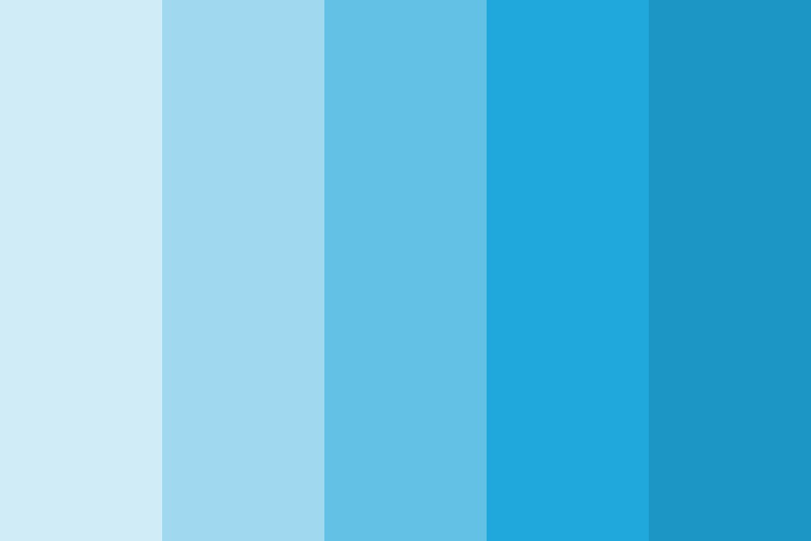 Sky Blue Color Shades Color Palette