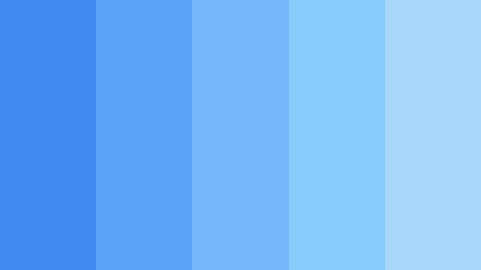Sky Blue Monochromatic Color Palette
