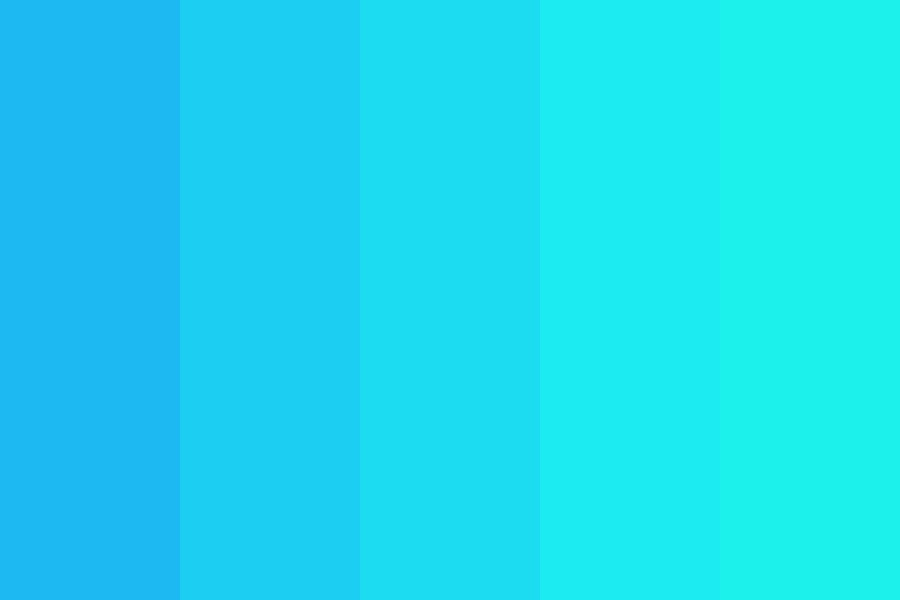 Sky Blue To Teal Green Color Palette