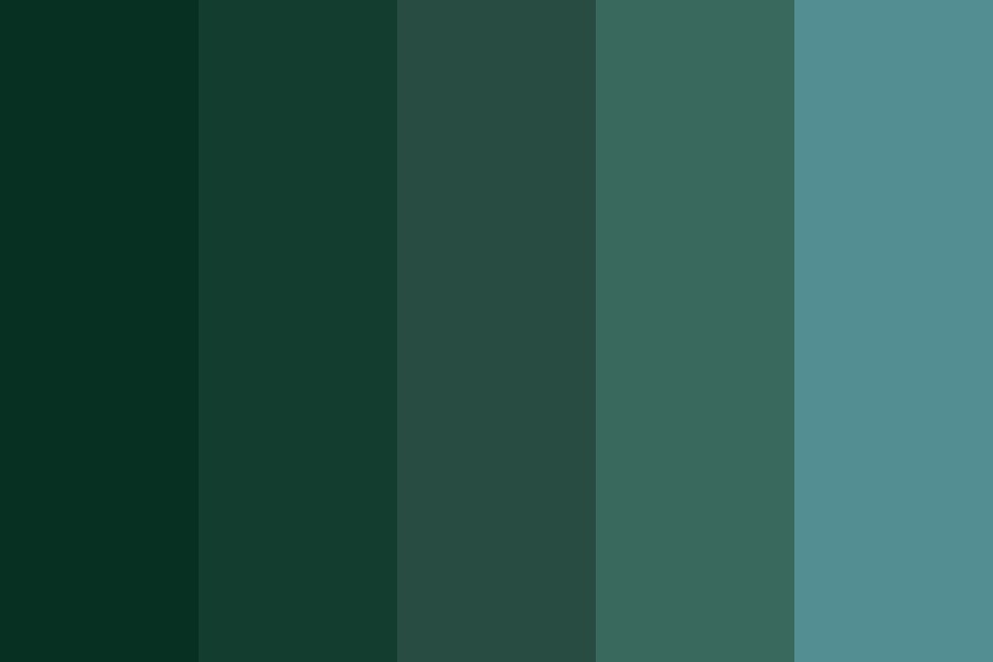 Sleep Chart Greens Color Palette
