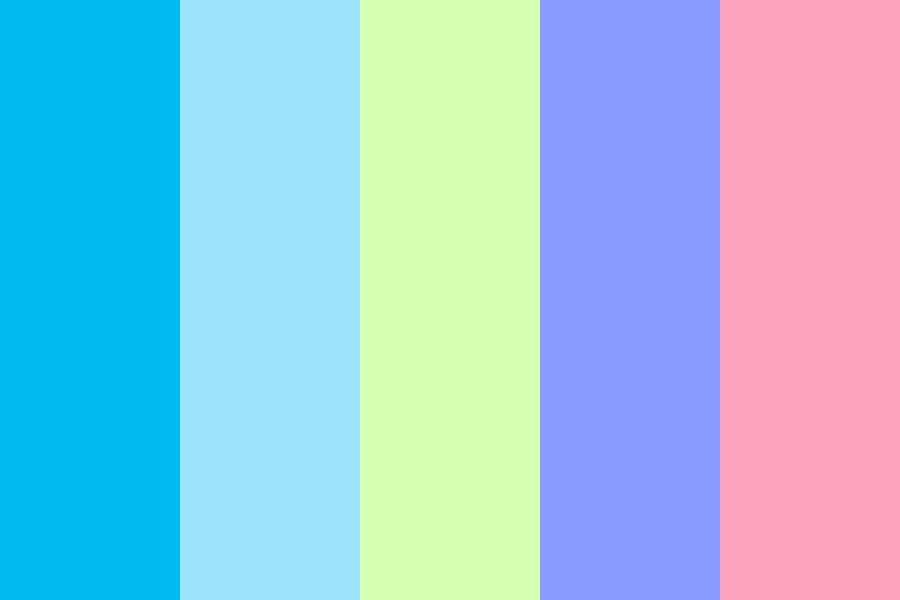 Soda Bottle Blues Color Palette
