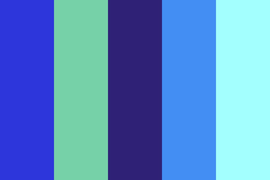 Soft Analogous Blues Color Palette