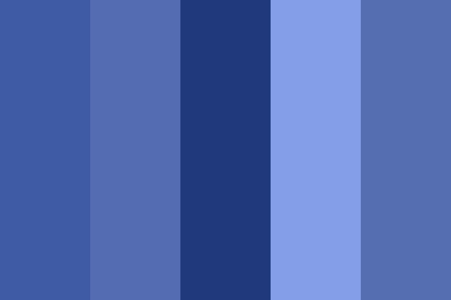Soft Monochromatic Blues Color Palette