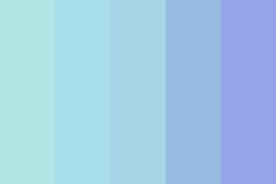 Soft Muted Blues Color Palette