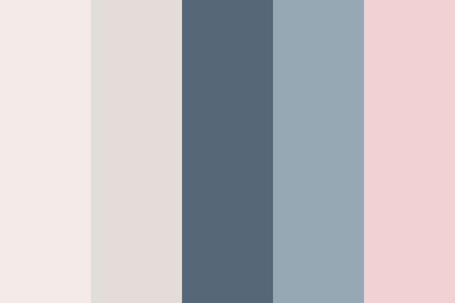 Soft Neutral Pinks And Blues Color Palette
