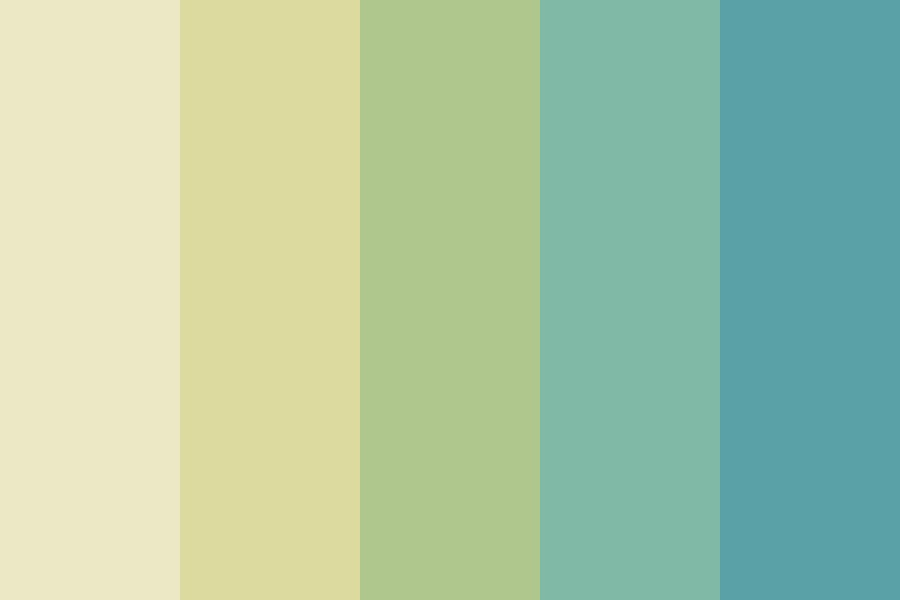 Soft Yellow To Not So Soft Blue Color Palette