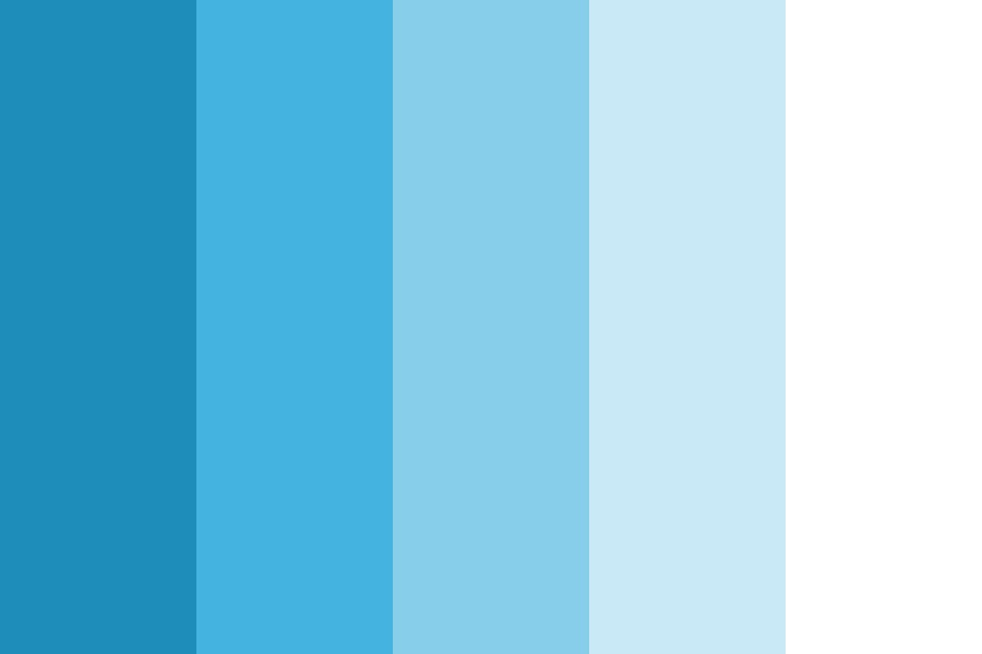 Soothing Blue Balanced Color Palette