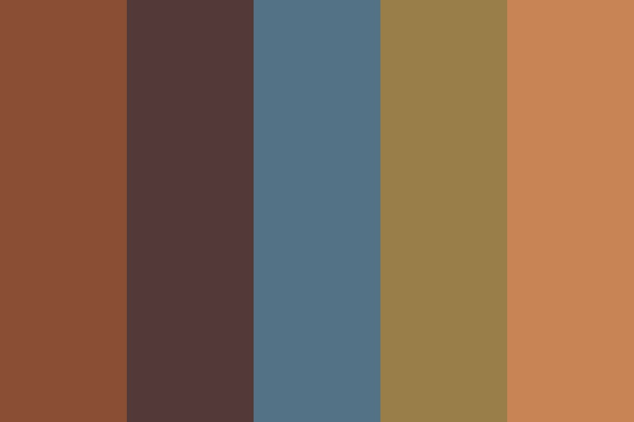 South African Earthy Colours Color Palette