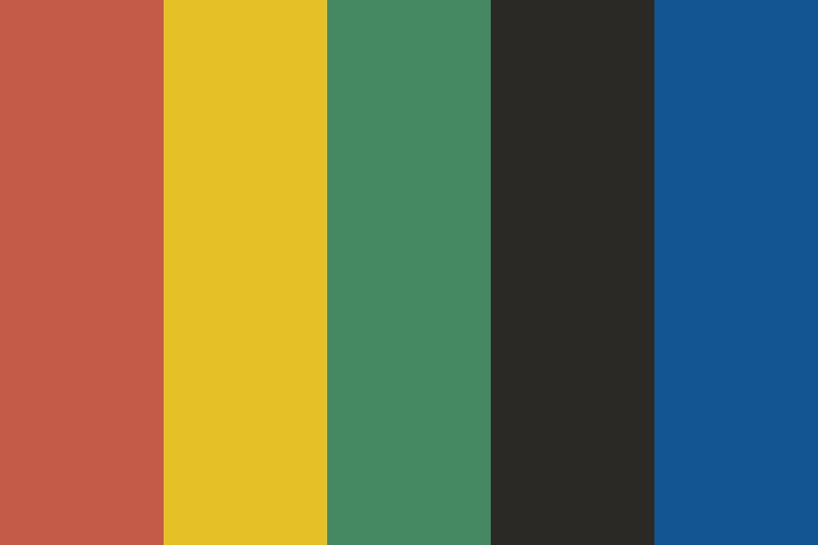 South African Flag Color Palette