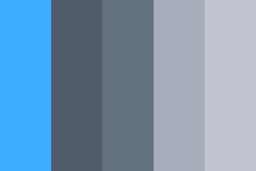 Space Greys And Light Blue Color Palette