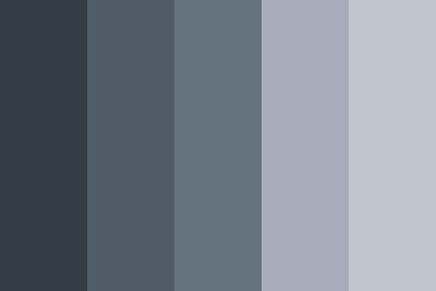 Space gray Like Color Palette