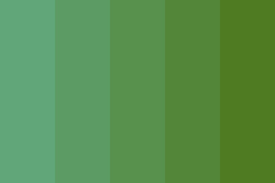 Spring To Autumn Moss Color Palette