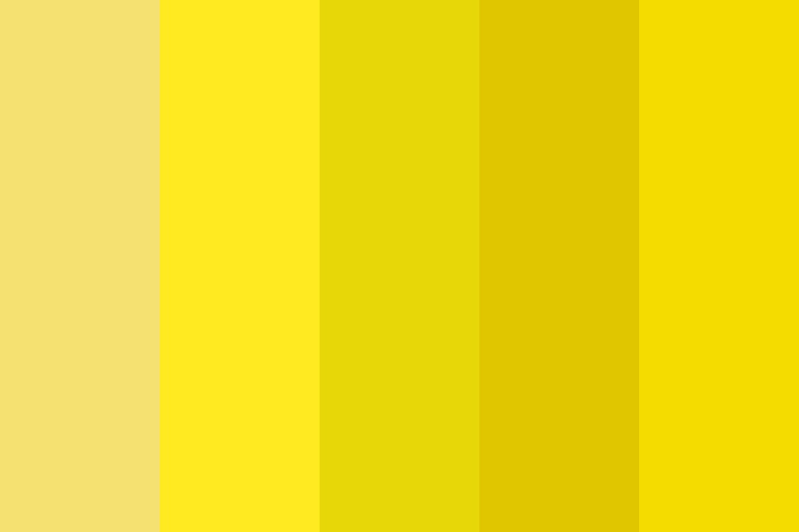 Spring Yellow Color Palette