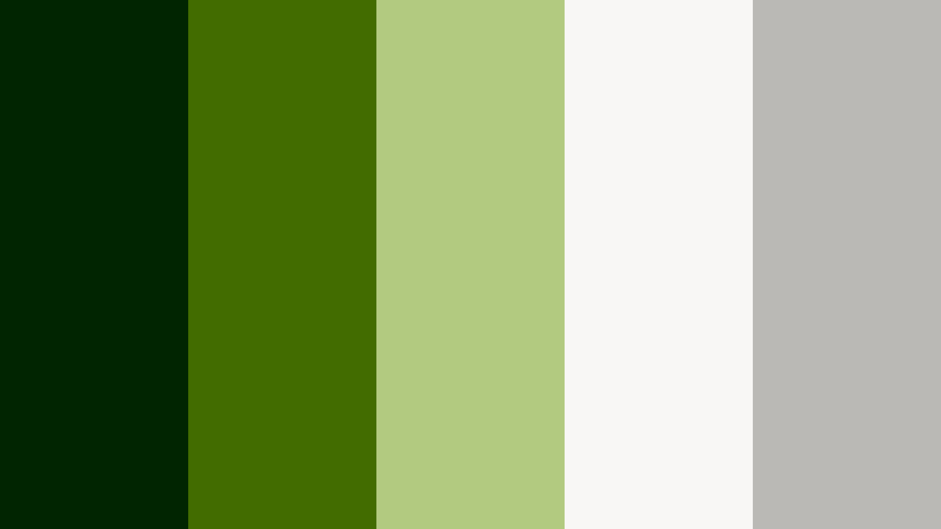 Stand Up Green Color Palette