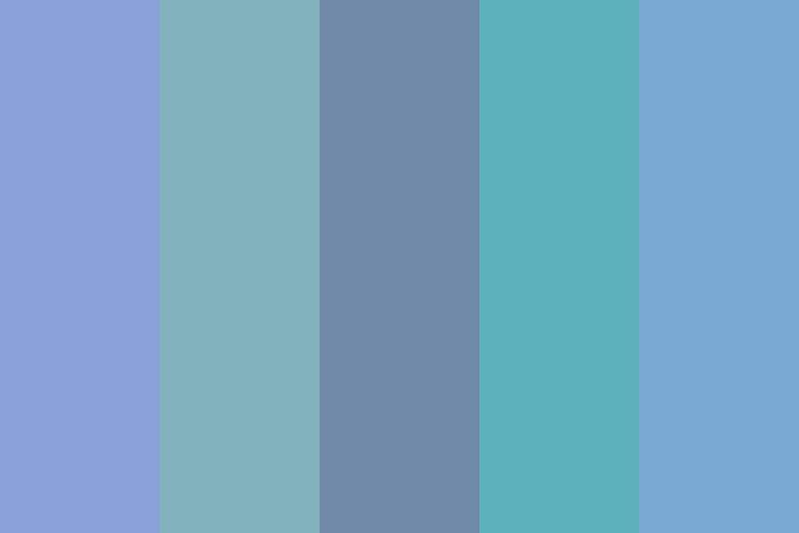 Steel N Teal Color Palette