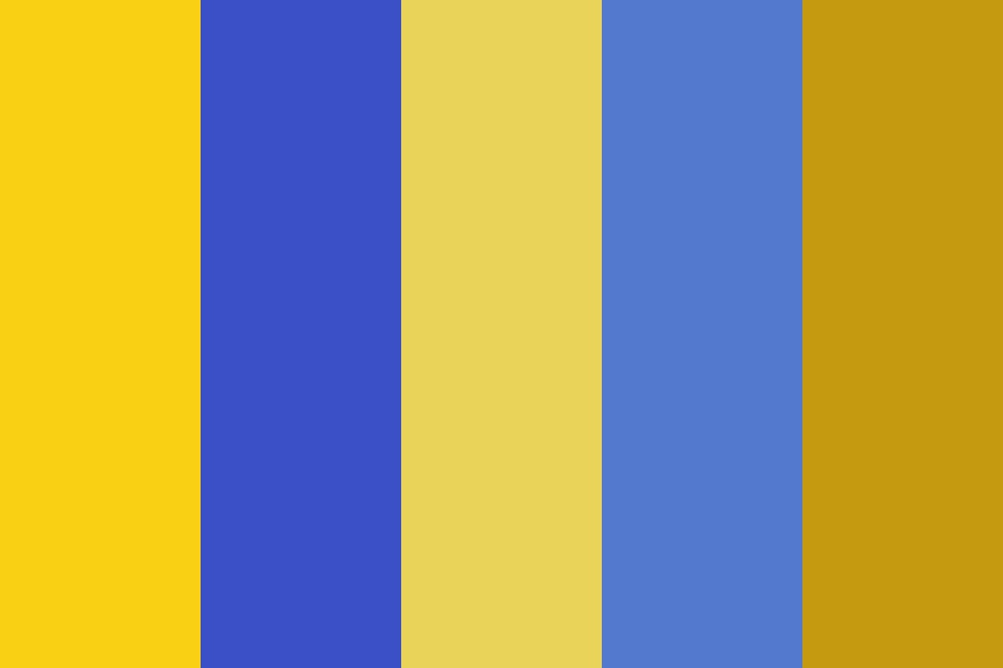 Stokin Gold And Blue Color Palette