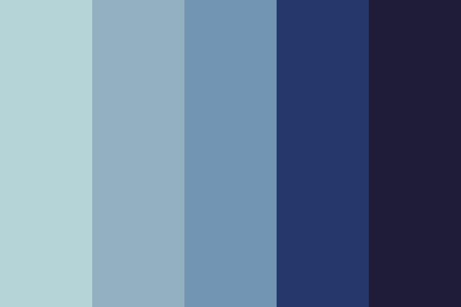 Stormy Ocean Night Color Palette