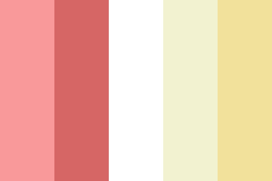 Strawberries N Cream Cake Color Palette