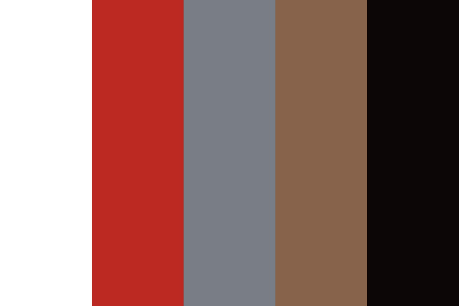 Strawberries On Dark Wood Color Palette