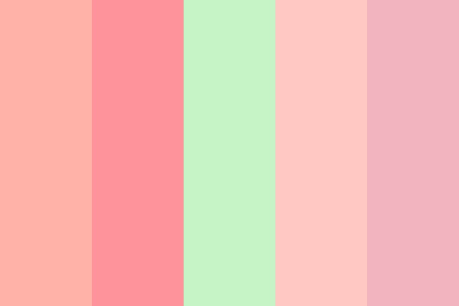 Strawberry Sunrise Color Palette
