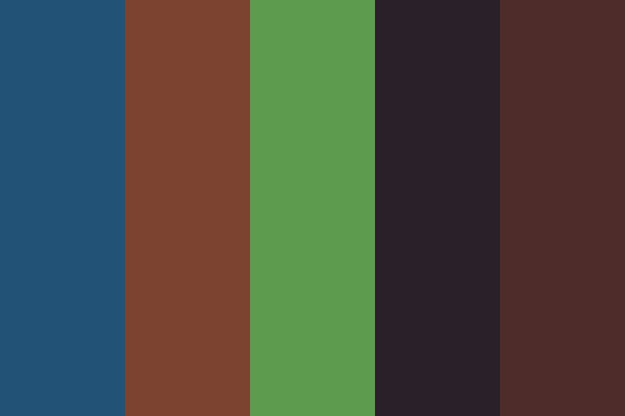 Subdued Natural Color Hues Color Palette