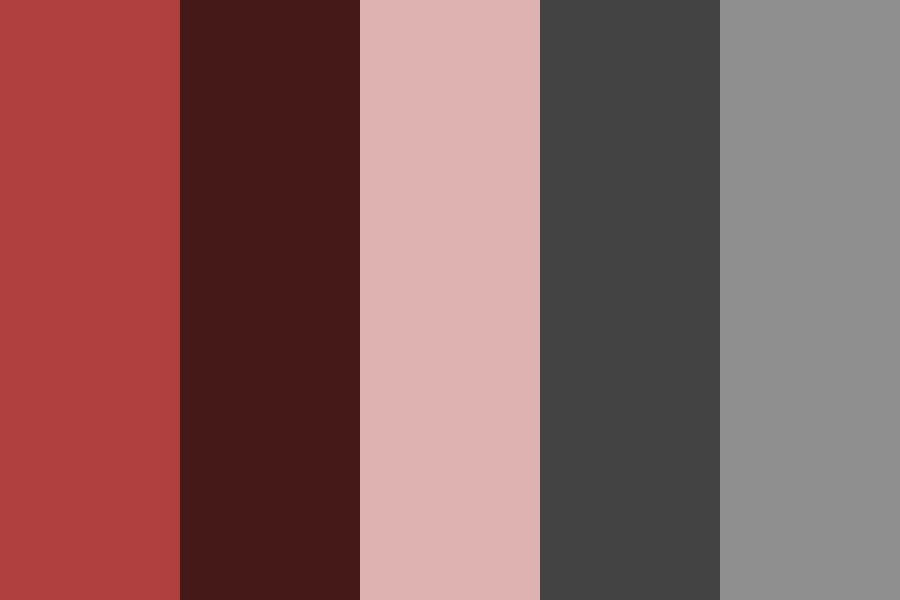 Subtle Red Accompaniment Color Palette
