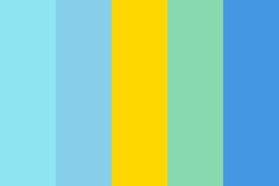 Summer At The Beach Color Palette