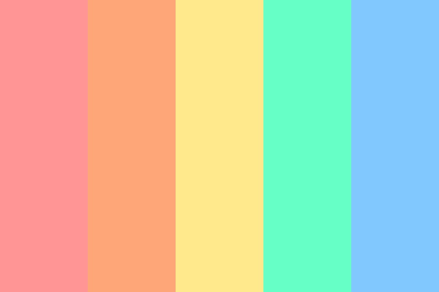 Summer Beach Vibes Color Palette
