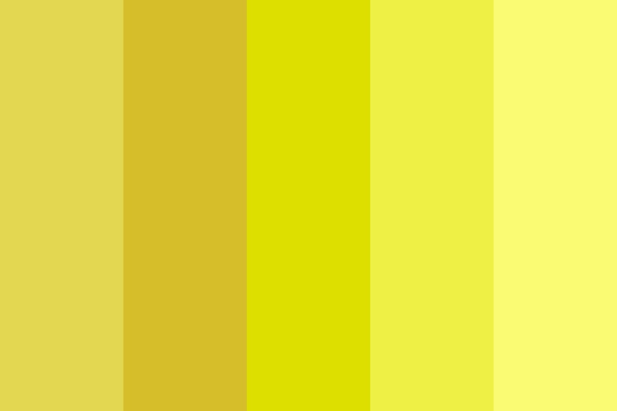Summer Yellow Color Palette