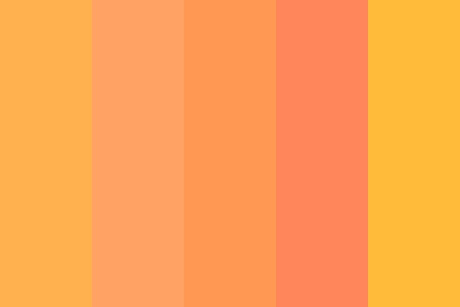 Sun Rise Orange Color Palette