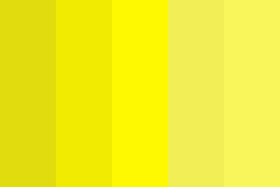 Sun Yellows Color Palette