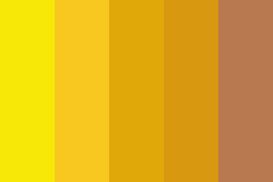 Sunflowers And Illusions Color Palette