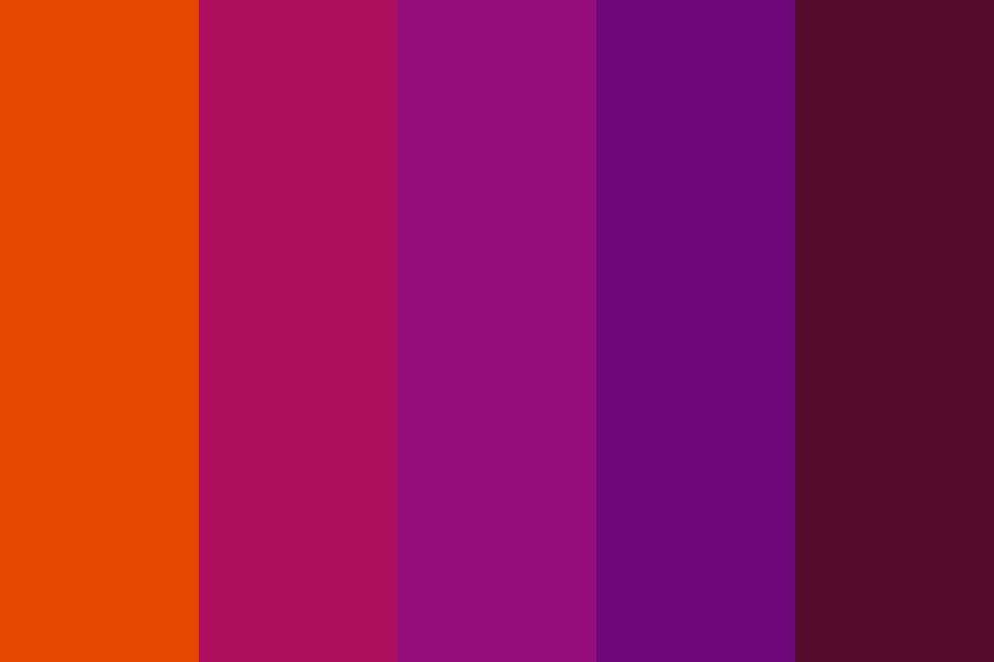 Sunset In My Brain Color Palette