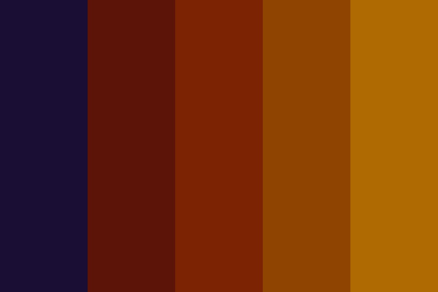 Sunset Mystery Color Palette