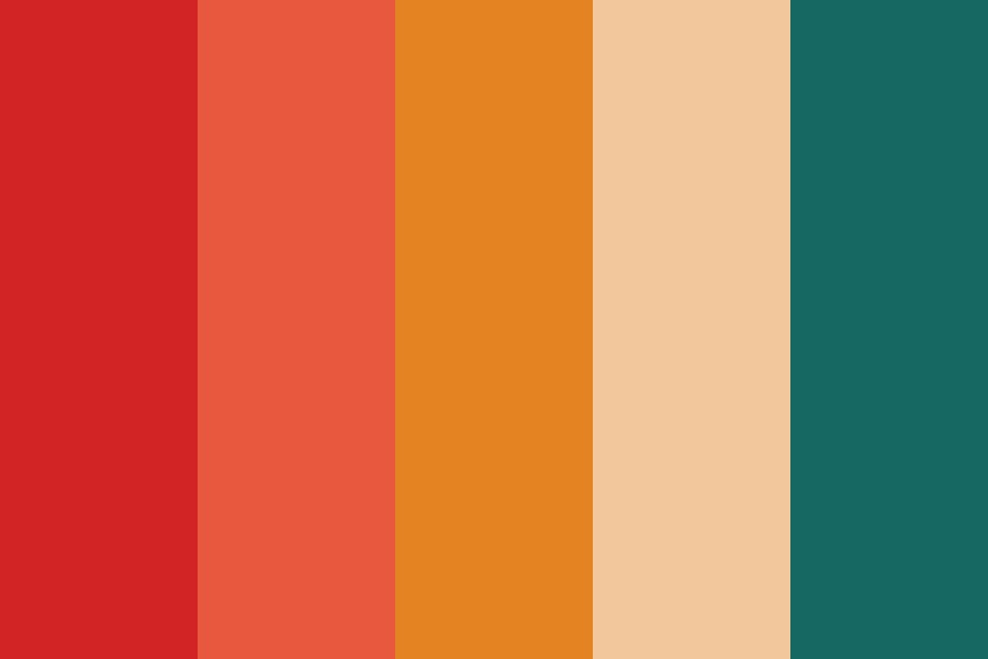 Sunset On The Beach Color Palette